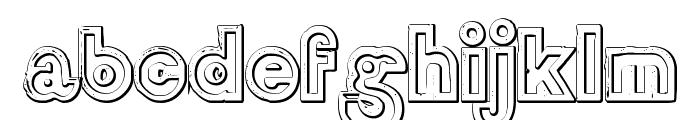 DelamotteLargeRelief Beveled Font LOWERCASE