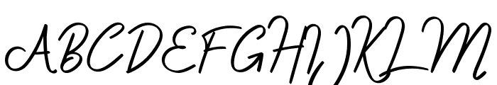 Delfoo Font UPPERCASE