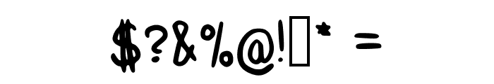 Delgadito Regular Font OTHER CHARS