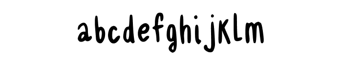 Delgadito Regular Font LOWERCASE