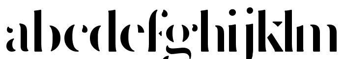 Delicate Bold Font LOWERCASE