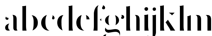 Delicate Strict Regular Font LOWERCASE