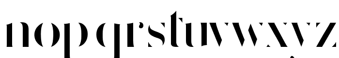 Delicate Strict Font LOWERCASE