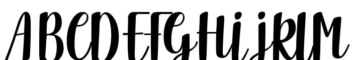 Delicious Adventures Font UPPERCASE