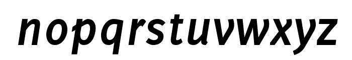 Delicious-BoldItalic Font LOWERCASE