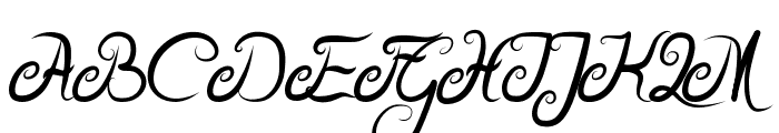 Delicious Curls Bold Font UPPERCASE