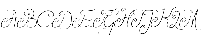 Delicious Curls Font UPPERCASE
