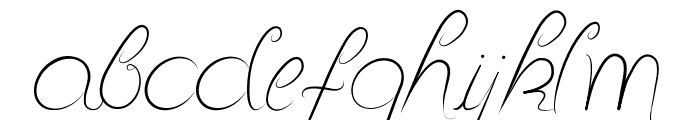Delicious Curls Font LOWERCASE