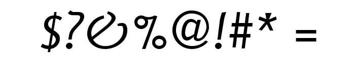 Delicious-Italic Font OTHER CHARS