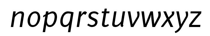 Delicious-Italic Font LOWERCASE