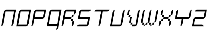 Delilah ThinOblique Font UPPERCASE