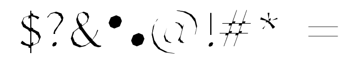 Delinquent-Extract Font OTHER CHARS