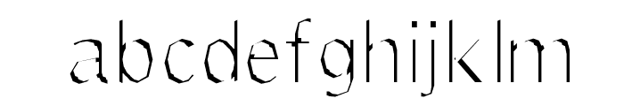 Delinquent-Extract Font LOWERCASE