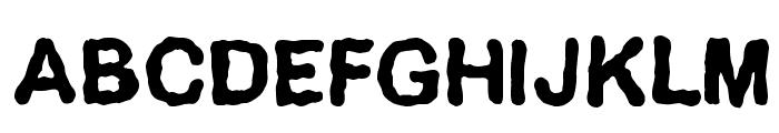 Delirium Font UPPERCASE
