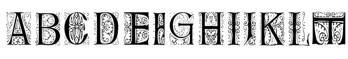 DelitschInitialen Font LOWERCASE