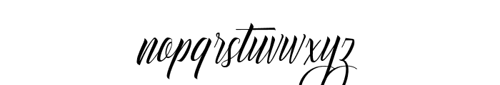 Delphin Spring DEMO Regular Font LOWERCASE