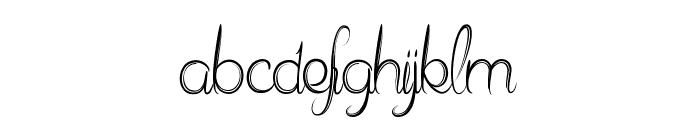 Delphine Et Mathias Script Font LOWERCASE