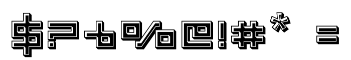 Delta Ray Bevel Font OTHER CHARS