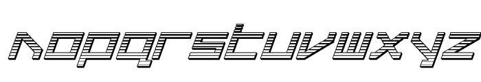 Delta Ray Chrome Italic Font LOWERCASE