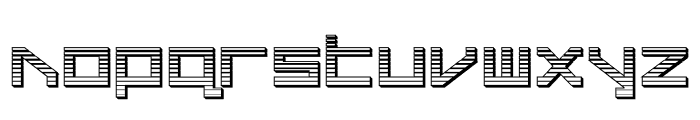 Delta Ray Chrome Font LOWERCASE