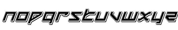 Delta Ray Punch Italic Font UPPERCASE
