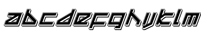 Delta Ray Punch Italic Font LOWERCASE