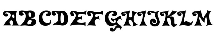DeltaHeyMaxNine-Regular Font UPPERCASE
