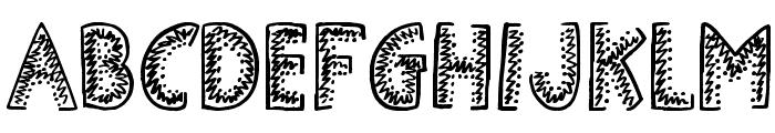 Demolished Font UPPERCASE