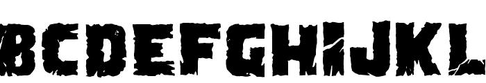Demolition Crack Black Font UPPERCASE