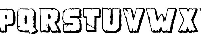Demolition Crack Shadow Font UPPERCASE
