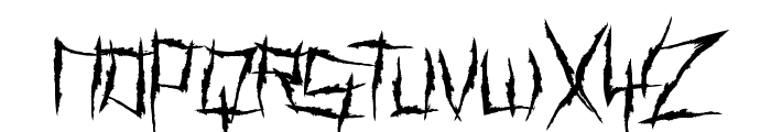 Demon Killer Font LOWERCASE