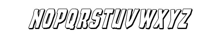 Demon Priest 3D Italic Font LOWERCASE