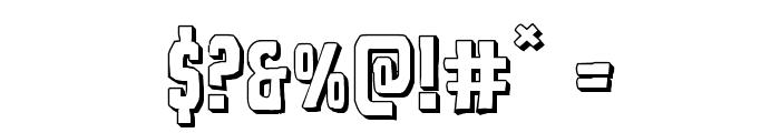 Demon Priest 3D Regular Font OTHER CHARS