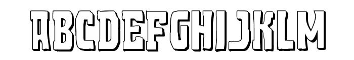 Demon Priest 3D Regular Font UPPERCASE