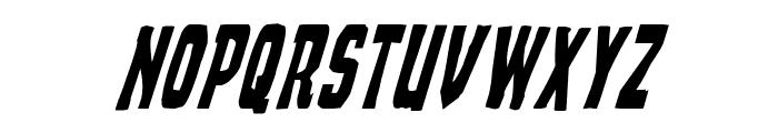 Demon Priest Condensed Italic Font UPPERCASE