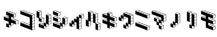DemonCubicBlock NKP Black Font LOWERCASE