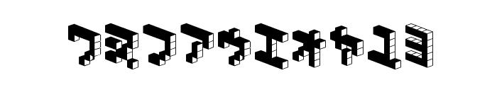 DemonCubicBlock NKP Dark Font OTHER CHARS