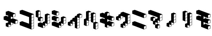 DemonCubicBlock NKP Dark Font LOWERCASE