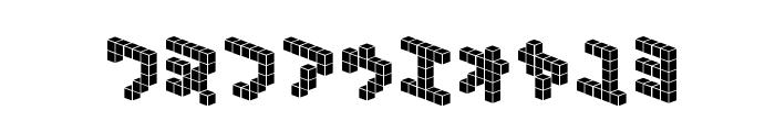 DemonCubicBlock NKP Tile Font OTHER CHARS