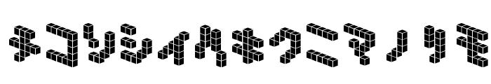 DemonCubicBlock NKP Tile Font LOWERCASE