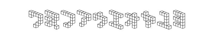 DemonCubicBlock NKP Font OTHER CHARS