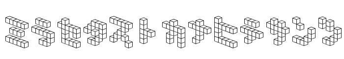 DemonCubicBlock NKP Font LOWERCASE