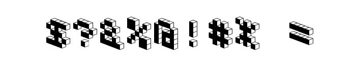 DemonCubicBlockFont Black Font OTHER CHARS