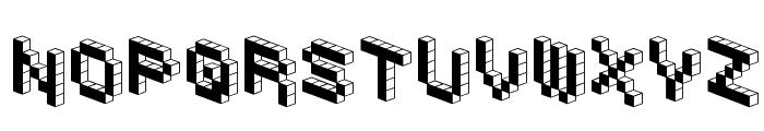 DemonCubicBlockFont Black Font LOWERCASE