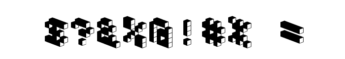 DemonCubicBlockFont Dark Font OTHER CHARS