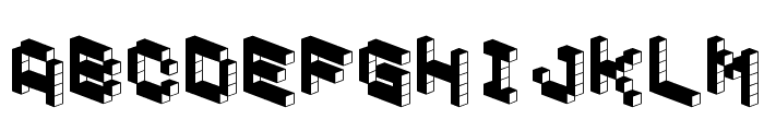 DemonCubicBlockFont Dark Font LOWERCASE