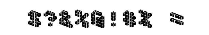 DemonCubicBlockFont Tile Font OTHER CHARS