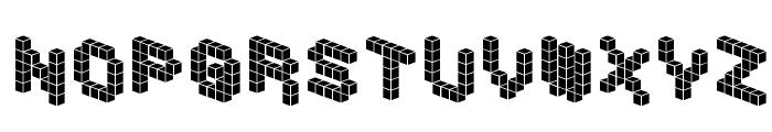 DemonCubicBlockFont Tile Font LOWERCASE