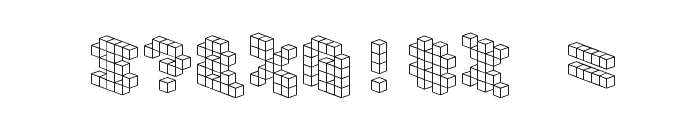 DemonCubicBlockFont Font OTHER CHARS
