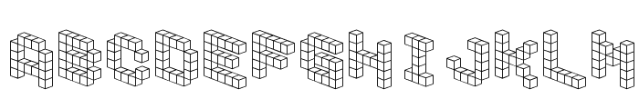 DemonCubicBlockFont Font LOWERCASE